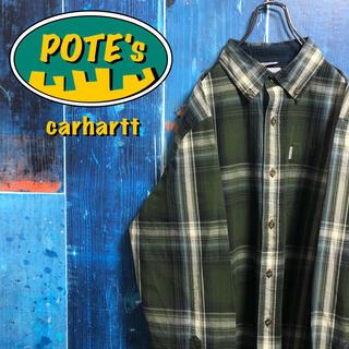 carhartt - 【カーハート】ポケットロゴタグ入りレトロワークチェックシャツ