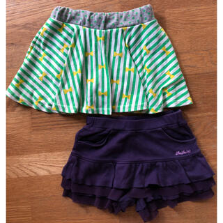 ベベ(BeBe)の90 スカート パンツ 2点セット(スカート)
