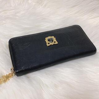 アナスイ(ANNA SUI)のANNA SUI アナスイ ラウンドファスナー 長財布 ブラック 黒 花柄(財布)