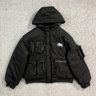 STUSSY - [黒、XL]  STUSSY ジャケット  コットンジャケット