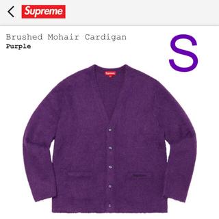シュプリーム(Supreme)のBrushed Mohair Cardigan Purple Sサイズ(カーディガン)