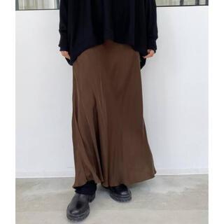アパルトモンドゥーズィエムクラス(L'Appartement DEUXIEME CLASSE)の【SHAINA MOTE/シャイナモート】Cupro Flare スカート(ロングスカート)