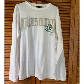 クイックシルバー(QUIKSILVER)のクィックシルバー 白 長袖Tシャツ コットンカットソー  メンズ L やや汚れ(Tシャツ/カットソー(七分/長袖))