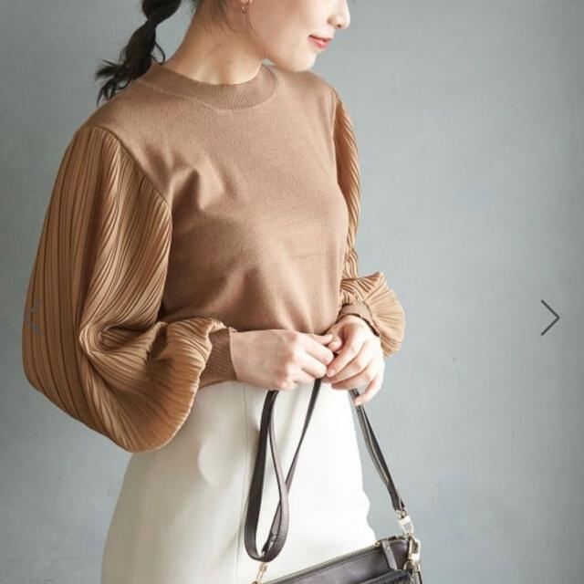 Rope' Picnic(ロペピクニック)の袖プリーツニット プルオーバー レディースのトップス(ニット/セーター)の商品写真