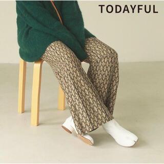 TODAYFUL - TODAYFUL 新作 新品タグ付 Pattern Knit Leggings