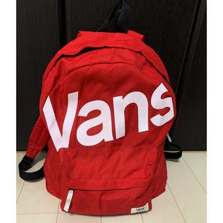 ヴァンズ(VANS)のVASN vans リュック 赤 ロゴ入り(リュック/バックパック)