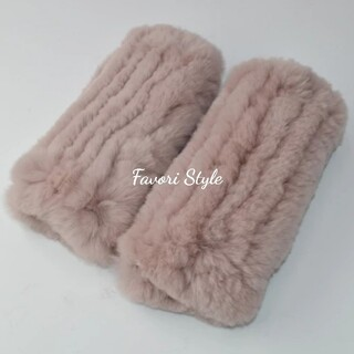 フォクシー(FOXEY)の高品質✨レッキスラビットファー アームカバー 手袋 パープルピンク(手袋)