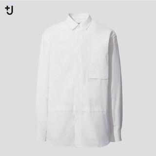 UNIQLO - ユニクロ +j スーピマコットンオーバーサイズシャツ レギュラーカラー L