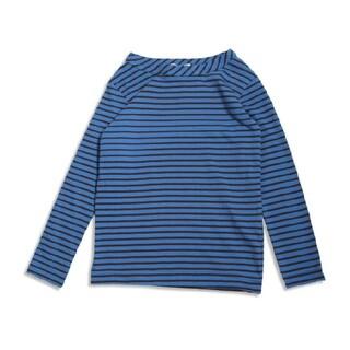 アンパサンド(ampersand)の【ampersand】日本製ボーダーロングTシャツ 90cm(Tシャツ/カットソー)