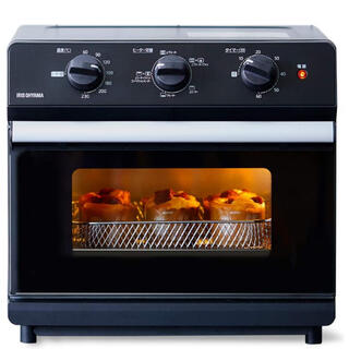 アイリスオーヤマ(アイリスオーヤマ)のアイリスオーヤマ ノンフライ熱風オーブン 2020年モデル トースター ブラック(調理機器)