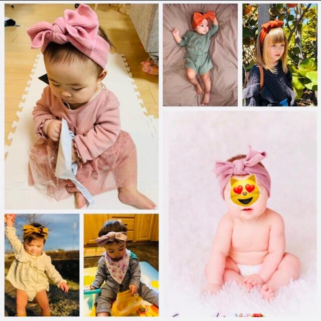 ベビー リブ ヘアバンド キッズ/ベビー/マタニティのこども用ファッション小物(帽子)の商品写真