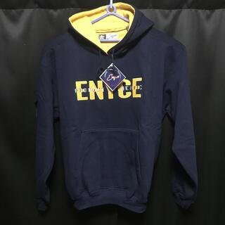 エニーチェ(ENYCE)のタグ付き新品未使用ENYCE hoodie サイズL(2XL相当)ネイビー(パーカー)