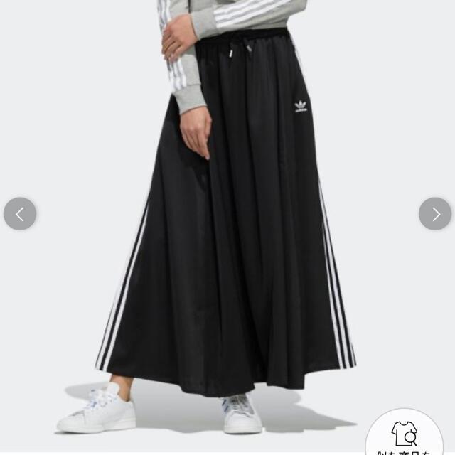 adidas(アディダス)のアディダスオリジナルス ロングスカート ブラックOT レディースのスカート(ロングスカート)の商品写真