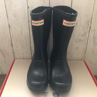 ハンター(HUNTER)のHUNTER レインブーツ ブラック 新品(長靴/レインシューズ)
