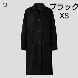 UNIQLO - ユニクロ ジルサンダー カシミヤブレンドチェスターコート ブラック XS 新品