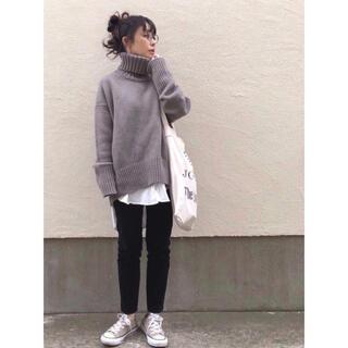 TOMORROWLAND - 美品☆GALERIE VIE☆ファインウールタートルネックニット グレー