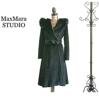 マックスマーラ(Max Mara)の高級 MaxMara STUDIO マックスマーラ コート ブラック(ロングコート)