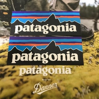 patagonia - (縦4cm横10.3cm)patagonia公式ステッカー p-6 2枚セット