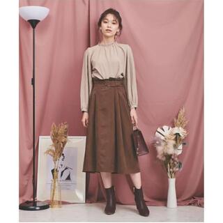ノエラ(Noela)の新品タグ付 2020AW Noela ノエラ サイドタックベルト付スカート(ひざ丈スカート)