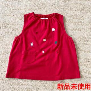ファミリア(familiar)の新品未使用 familiar 赤色 刺繍たくさん トップス 110(Tシャツ/カットソー)