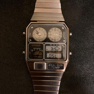 シチズン(CITIZEN)のアナデジテンプ オリジナルシルバー(腕時計(デジタル))