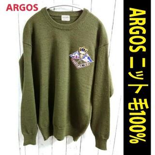 アートヴィンテージ(ART VINTAGE)のARGOS アルゴス ニット セーター 緑色 アースカラー VINTAGE(ニット/セーター)