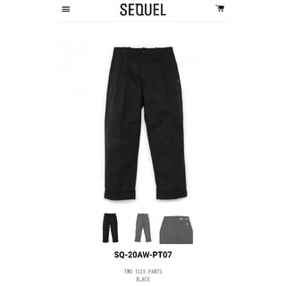 FRAGMENT - [新品] SEQUEL 20AW TWO TUCK PANTS L 藤原ヒロシ
