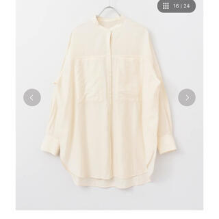KBF - KBF ポケットデザイン ロングシャツ
