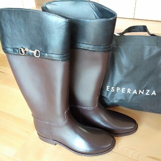 エスペランサ(ESPERANZA)のロングブーツ レインブーツ(ブーツ)