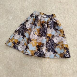 華やか! ジャガード織 スカート(ひざ丈スカート)