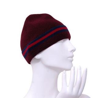 グッチ(Gucci)のGUCCI グッチ シェリー ライン S ニット帽 ニット キャップ(ニット帽/ビーニー)