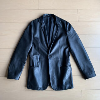 Jil Sander - JIL SANDER leather tailored jacket