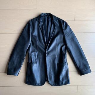 ジルサンダー(Jil Sander)のJIL SANDER leather tailored jacket(レザージャケット)