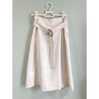 ロペ(ROPE)の【ROPE】ベルト付きスエード調フレアスカート(ひざ丈スカート)