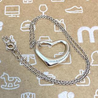 Tiffany & Co. - ティファニー オープンハート Lサイズ ネックレス  エルサ・ペレッティ 美品