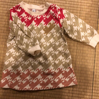 Design Tshirts Store graniph - グラニフ ネコ スウェットチュニック90