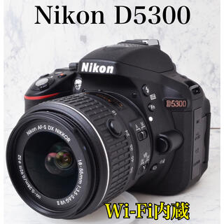 Nikon - S数1062回●Wi-Fi内蔵●純正レンズキット●ニコン D5300