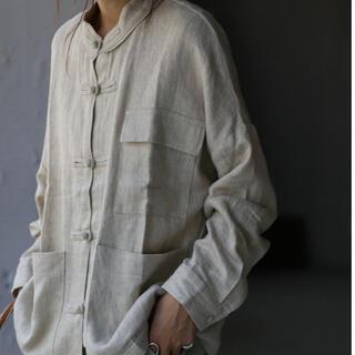 antiqua - antiqua チャイナボタンシャツ