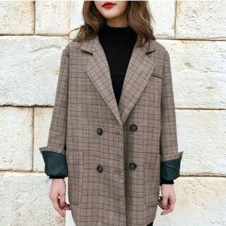 ZARA - グレンチェックジャケット コート