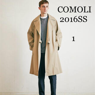 COMOLI - COMOLI  Cotton Gabardine Tielocken Coat