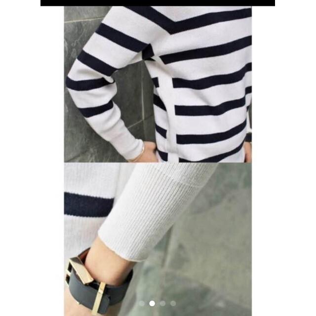IENA(イエナ)のIENA ボーダー ニット レディースのトップス(ニット/セーター)の商品写真