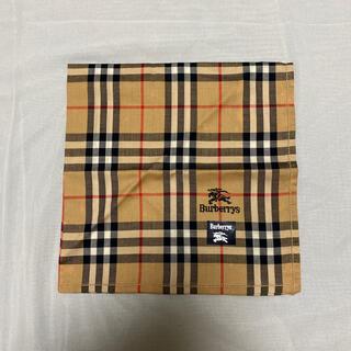 BURBERRY - Burberrys ハンカチ ベージュチェック ホース刺繍 未使用難あり