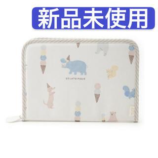 gelato pique - ジェラートピケ  アニマル アイスクリーム 母子手帳ケース ジャバラ ブルー