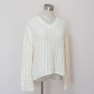 セポ(CEPO)のcepo セポ ブイ首 ざっくり編み 厚手 長袖 セーター (ニット/セーター)