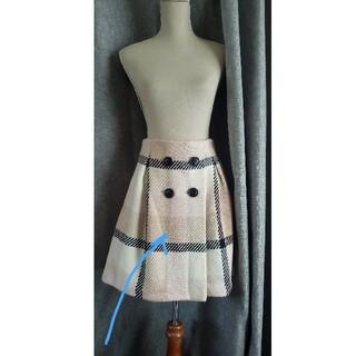 バーバリーブルーレーベル(BURBERRY BLUE LABEL)の大変美品 BURBERRY BLUE LABEL  チェックのウールスカート(ひざ丈スカート)