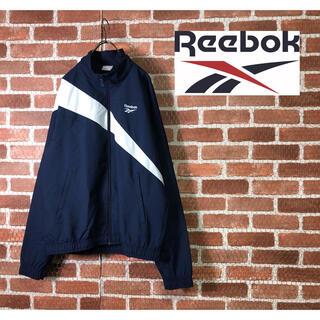 リーボック(Reebok)の【美品】Reebok ベクタートラック 刺繍ロゴ ナイロンジャケット(ナイロンジャケット)
