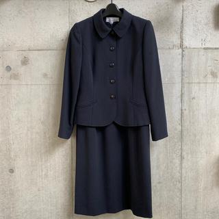 ジュンアシダ(jun ashida)のミスアシダ ネイビー ジャケット ワンピース セットアップ 9号(スーツ)