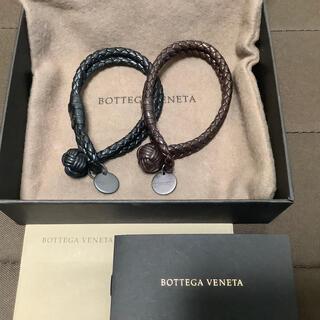 Bottega Veneta - ボッデガべネタ イントレチャートブレスレット ブラック ブラウン 2個セット