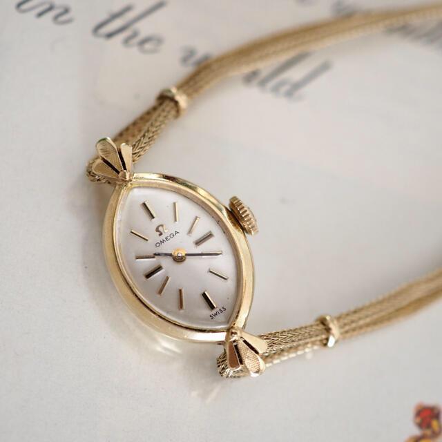 OMEGA(オメガ)のOH済・美品✨オメガ 14金無垢 ドレスウォッチ✨トゥモローランド agete レディースのファッション小物(腕時計)の商品写真