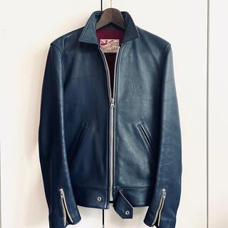 ルイスレザー(Lewis Leathers)の極美品 アディクトクローズ AD-01 ビンテージブルー38(ライダースジャケット)